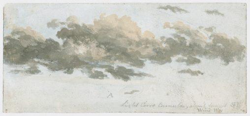 Cirrocumulus, cloud study, c 1803-1811.