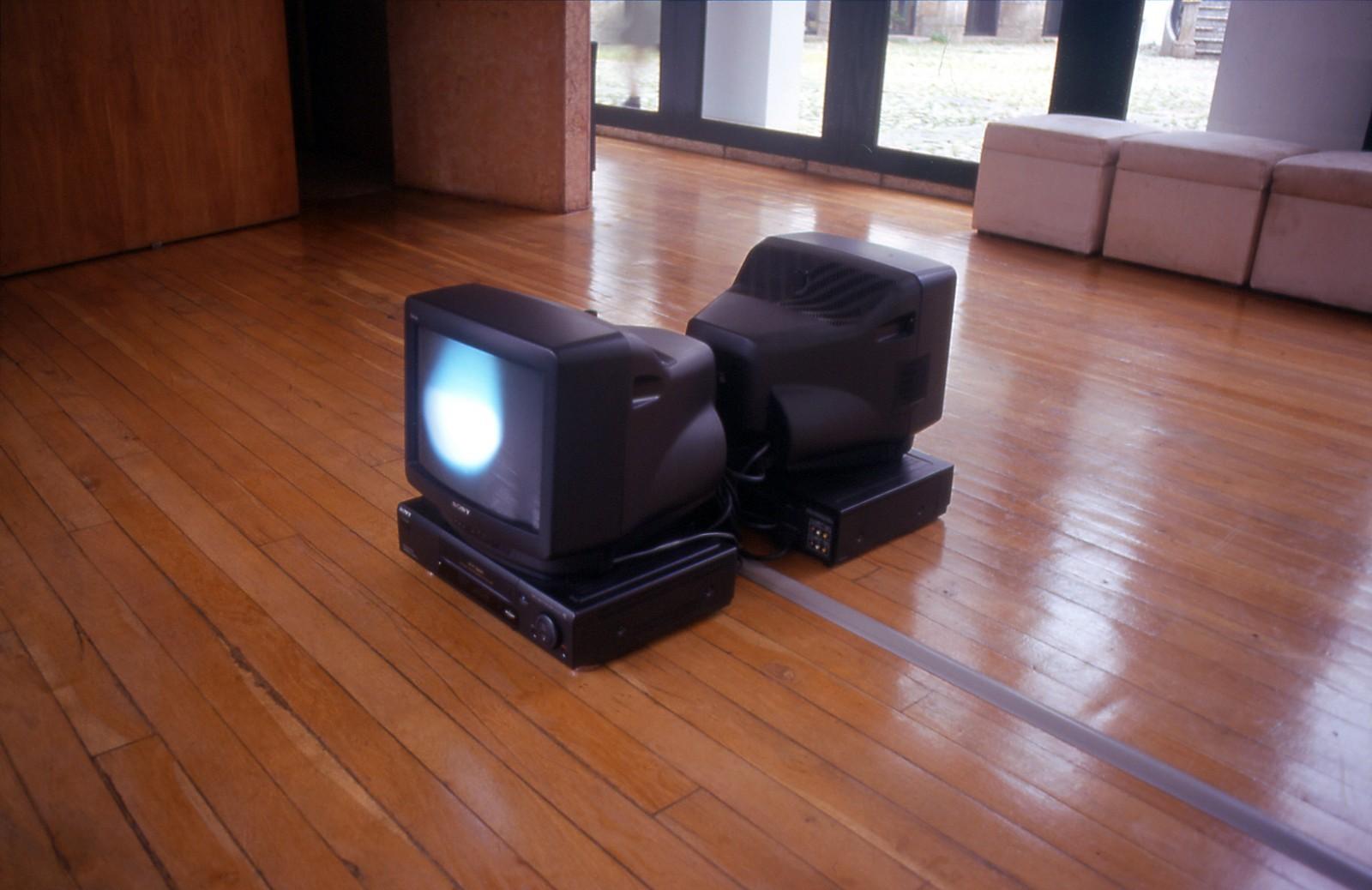 """O trabalho na exposição /the work at the exhibition """"Uma visão herética do Mundo"""", Museu Amadeo de Sousa Cardoso, Amarante, 1998."""